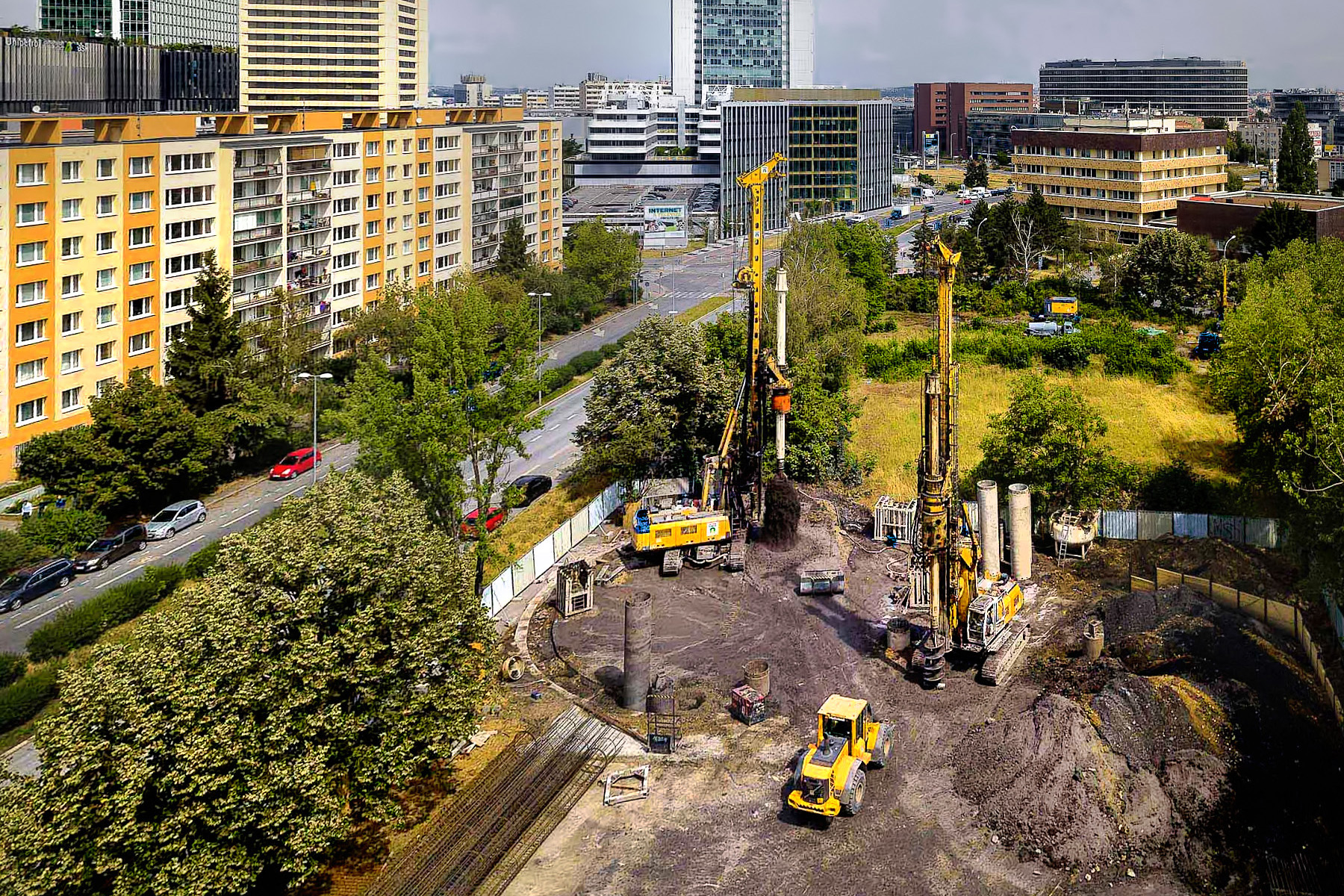 Metro trasy D – stavební jámy